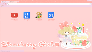 Theme Strawberry Girl Google Chrome Torch