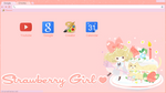 Theme Strawberry Girl Google Chrome Torch