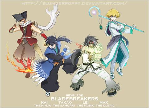 BEYBLADE-BladebreakersWpap by SlumberPoppy