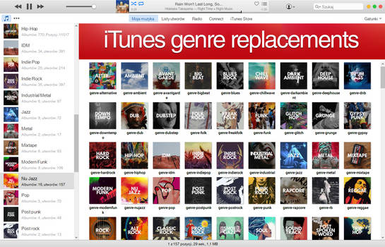 iTunes Genre Replacements