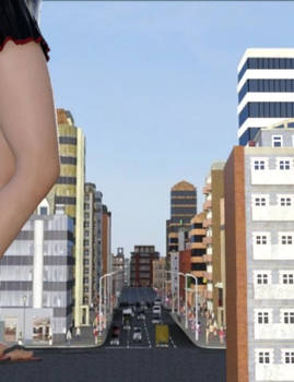 Walking (Giantess Animation Test)