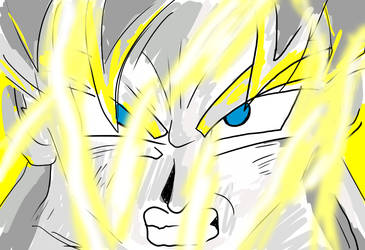Speed Painting of Super Saiyan Goku by Massacci23