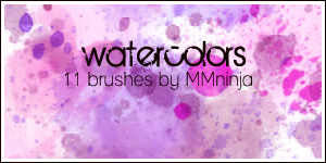Watercolor Brushes by mmninja