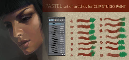 Pastel set of brushes for Clip Studio Paint 14