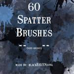 60 Spatter Brushes