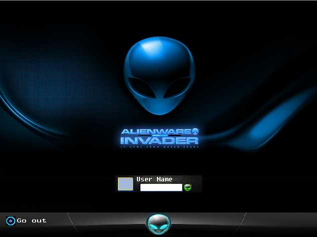 Alienware Logon Screen - gardentube