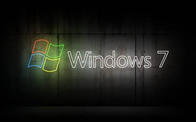 Windows 7 Neon Wallpaper by Peaches491