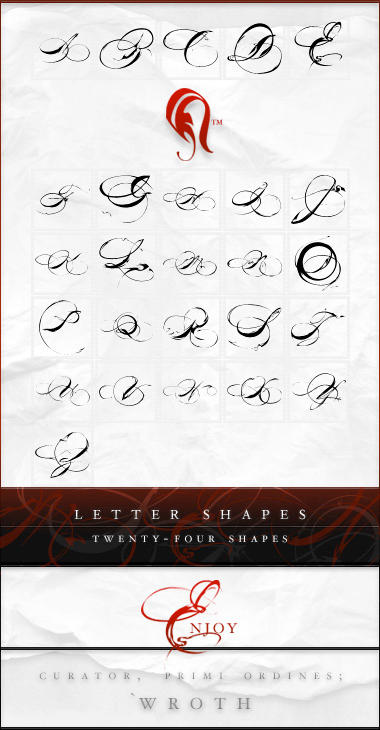 Shapes - Letters - 2 by resurgere
