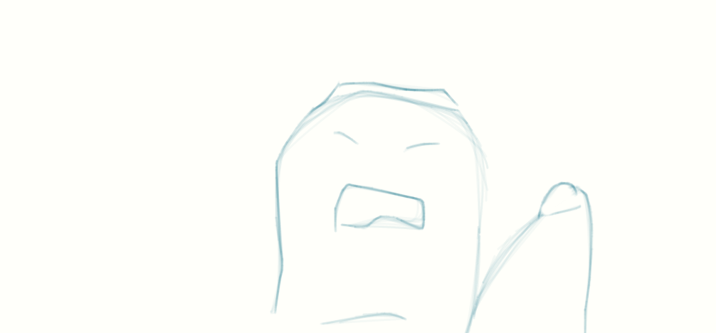 Crying face on thumb by aaaacccc24