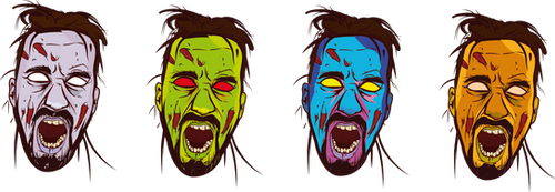 Zombie Face Color by chiquitoooh