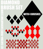 Diamonds Brush Set Photoshop by Tundra-Sky