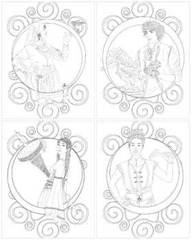 Circle of Magic Coloring Sheets