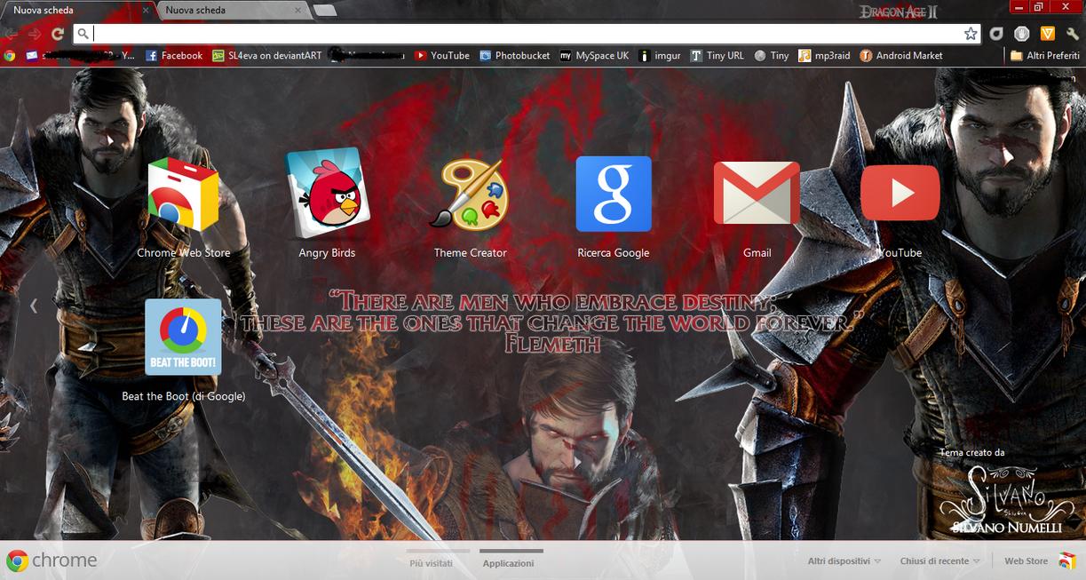 Google chrome themes video games - Dragon Age Ii Google Chrome Theme By Sl4eva