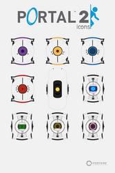 Aperture Laboratories Icon Set by VaIisk