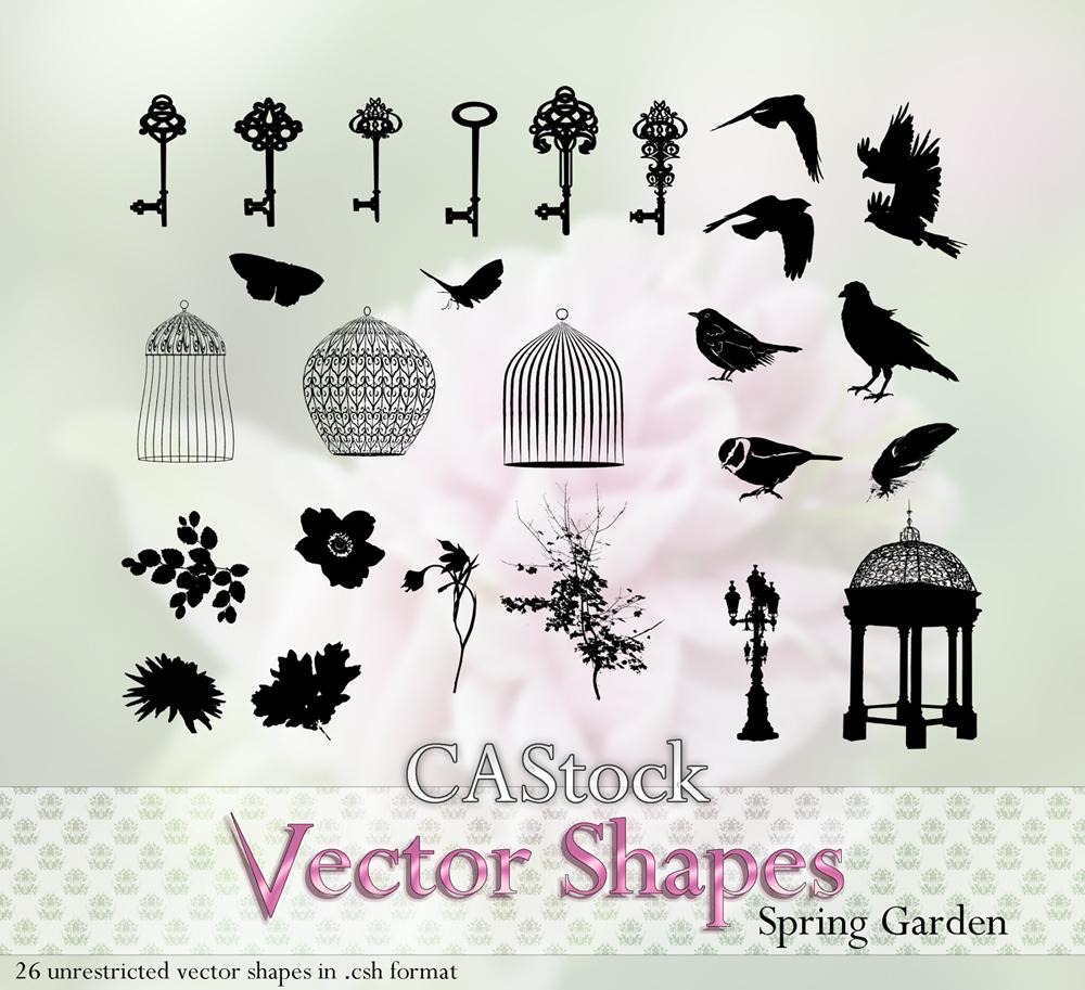 Spring Garden vector shapes