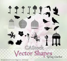Spring Garden vector shapes by CAStock