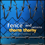 Thorns thorny and Fence by wassimo-des