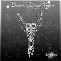 Diamond Dragon Necklace by Gloree