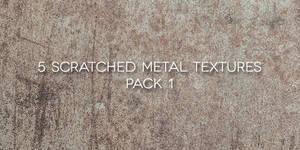 5 Scratched Metal Textures Pack 1