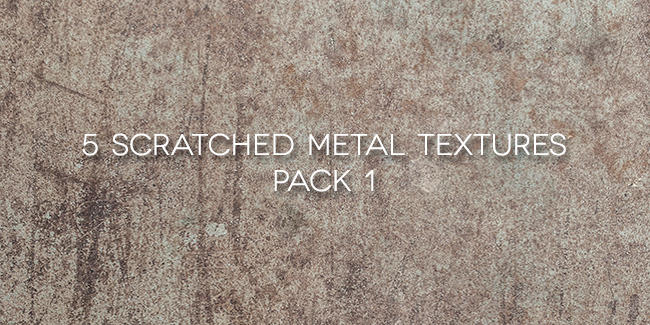 5 Scratched Metal Textures Pack 1 by zippy09