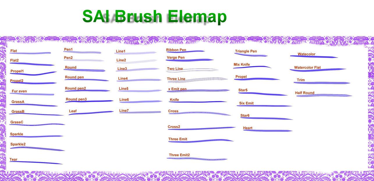 SAI Brush---elemap by chatenoir