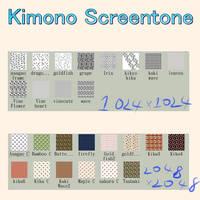 Kimono Screentone by chatenoir