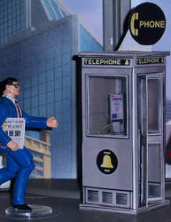 Phone Booth Papercraft