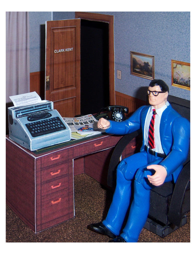 Diorama Plans: Clark Kent's Office by MisterBill82