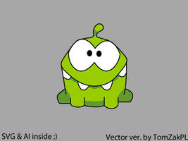 Cut The Rope Vector Frog