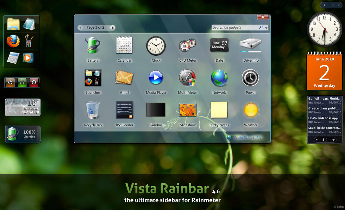 vista rainbar