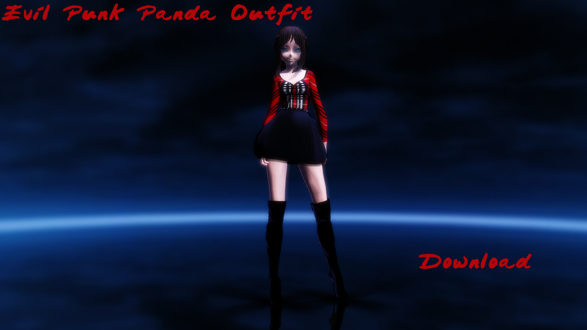 [175 Watchers Gift] Evil Punk Panda Outfit DL! by TheChaoticMuffin