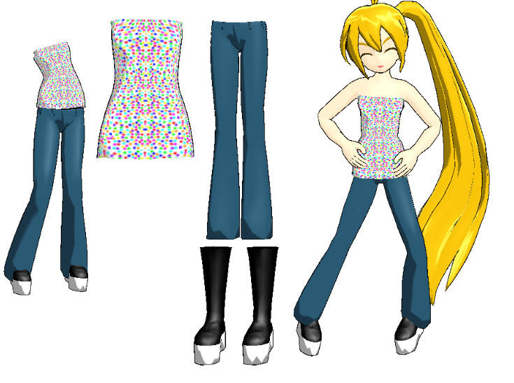 MMD-Female Outfit DL By Shioku-990 On DeviantArt