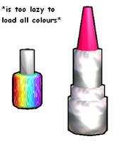 Lipstick and nail polish DL by Shioku-990