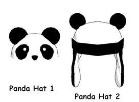 MMD-Panda hats DL by Shioku-990