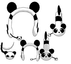 MMD-Panda headphones DL by Shioku-990