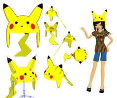 MMD-Pikachu Hat DL by Shioku-990