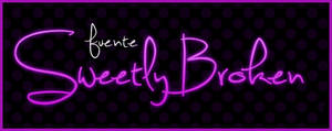 Fuente Sweetly Broken .-Font by Movimientodealegria