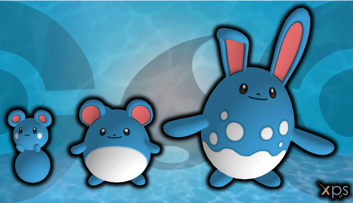 Azurill Marill And Azumarill By Loriscangini On Deviantart