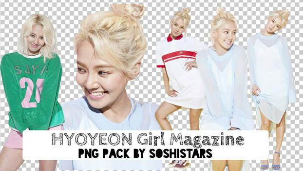 SNSD Hyoyeon Girl Magazine PNG Pack By soshistars