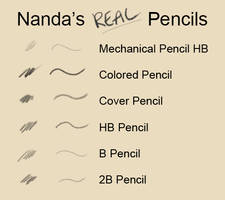 Nanda's Real Pencil Brushes for Photoshop