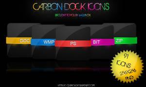 Carbon Dock Icon Set