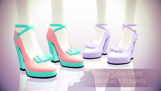 MMD Download||Creme' Lolita Heels|| 100 Points