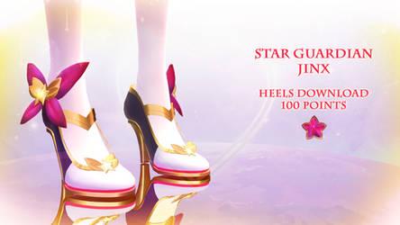 MMD DL|| Star Guardian Jinx Heels|| 100 Points by Polygon-P