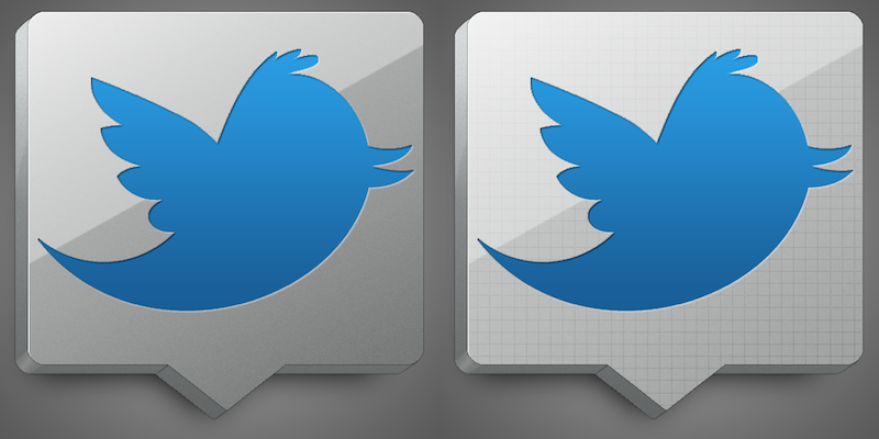 Aluminum Twitter Icon by Kayz-R