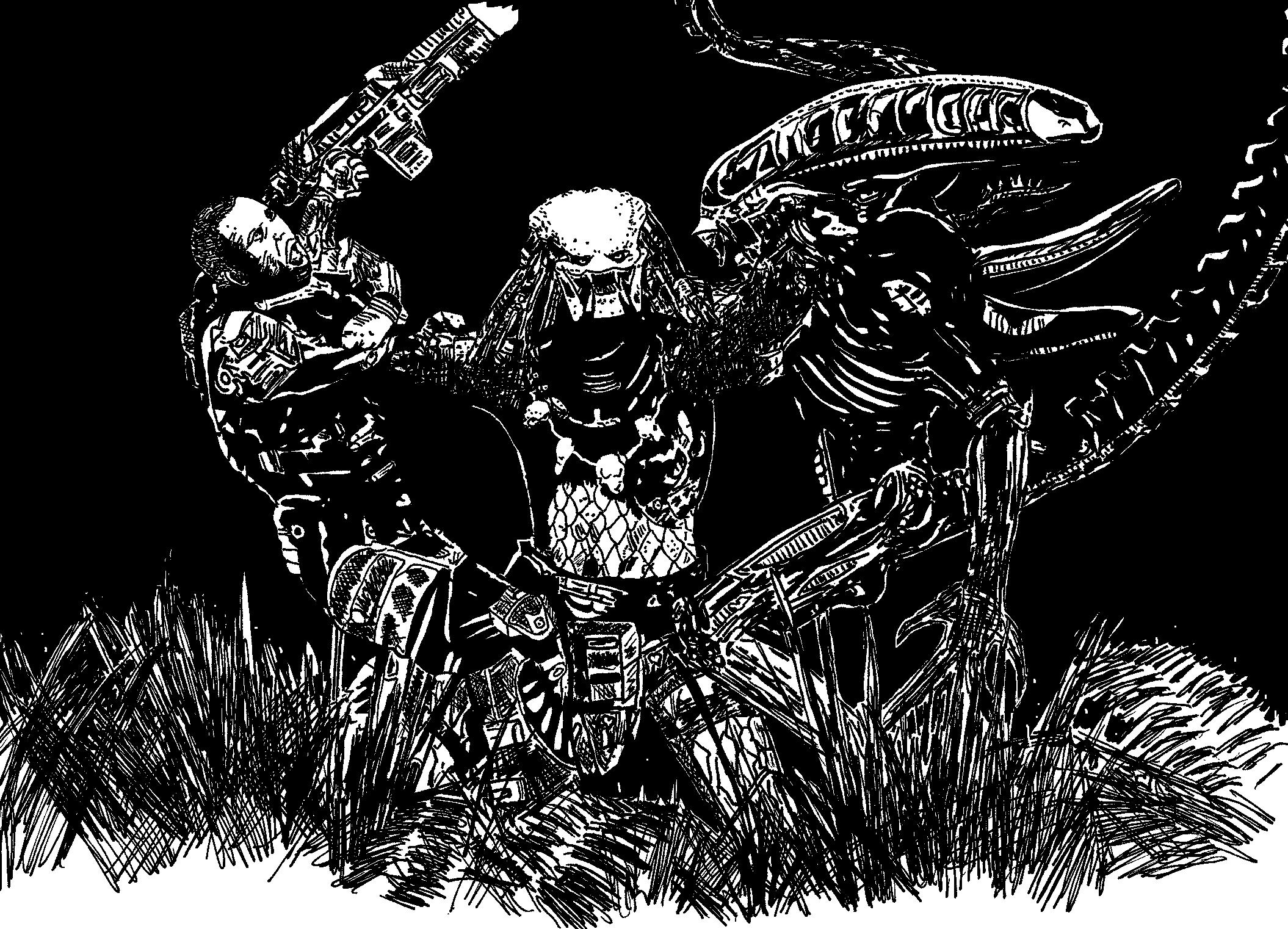 Alien vs predator by ladyjart on deviantart