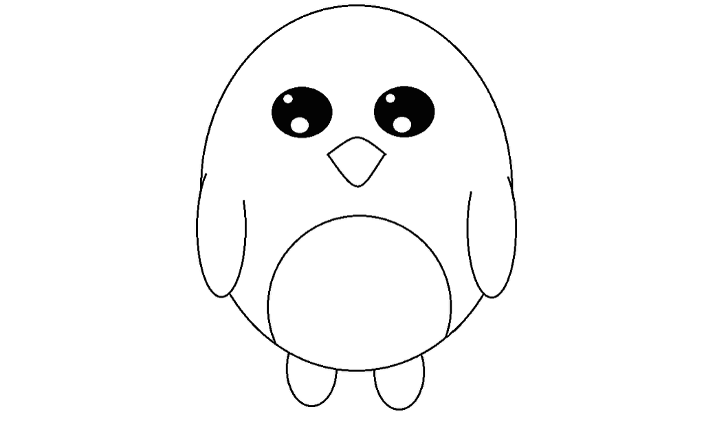 Cute Simple Line Art : Cute penguin line art by jenny neko on deviantart