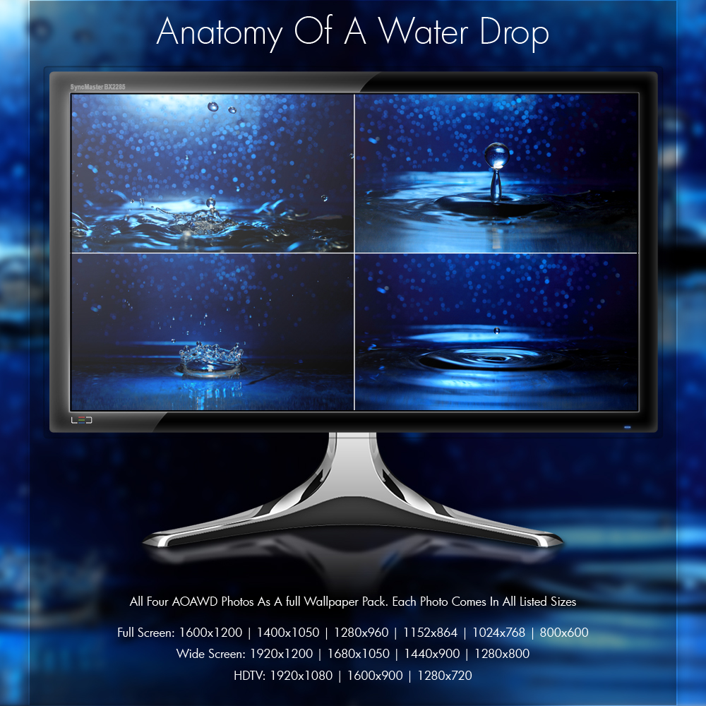 Anatomy Of A Water Drop - Wallpaper Pack