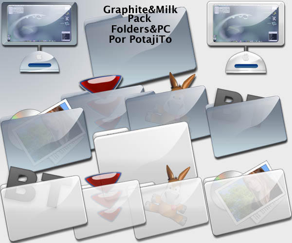 Graphite and Milk Folders Pack