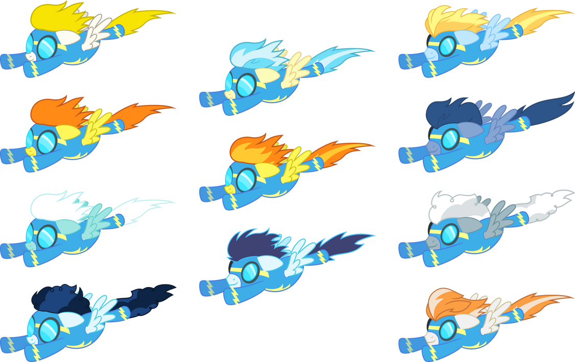 Wonderbolts flying (ZIP download) by D4SVader