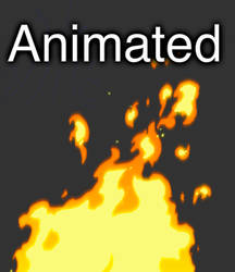 2D Animated Fire by Dmeville